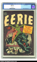 Golden Age (1938-1955):Horror, Eerie #10 (Avon, 1952) CGC FN/VF 7.0 Off-white pages.A strangelyendowed alien takes his lady out on the town in the Cat-ill...