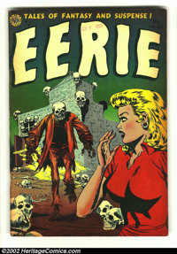 Eerie #13 (Avon, 1953) VG 4.0 Tan pages. Here is one of the top headlight and horror covers of all time. See this image...