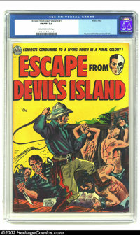 Escape from Devil's Island #1 (Avon, 1952) CGC FN/VF 7.0 Off-white to white pages. Raymond Kinstler cover and art. Overs...