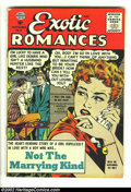 Golden Age (1938-1955):Romance, Exciting Romances #31 (Quality, 1956) Condition: FN. Here isanother great comic featuring a Matt Baker cover plus interior ...
