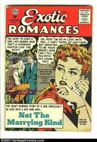 Exciting Romances #31 (Quality, 1956) Condition: FN. Here is another great comic featuring a Matt Baker cover plus inter...