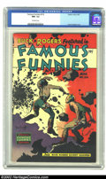 Golden Age (1938-1955):Science Fiction, Famous Funnies #216 (Eastern Color, 1955) CGC NM- 9.2 Off-whitepages. A classic Frank Frazetta Buck Rogers science fiction ...