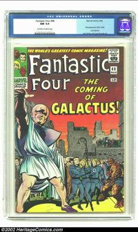 Fantastic Four #48 (Marvel, 1966) CGC NM 9.4 Off-white to white pages. Key issue :first appearance of the Silver Surfer...