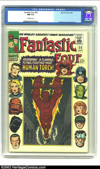 Fantastic Four #54 (Marvel, 1966) CGC NM 9.4 Off-white to White pages. Appearing in this issue are the Black Panther, Wy...