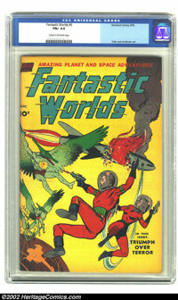 Fantastic Worlds 5 (#1) (Standard, 1952) CGC FN+ 6.5 Cream to off-white pages. Toth and Anderson art. Overstreet 2002 FN...