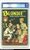 Golden Age (1938-1955):Cartoon Character, Feature Book #43 (Better Publications, 1945) CGC FN - 5.5 Cream tooff-white pages. Here is a wonderful Blondie cover with D...