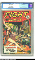 Golden Age (1938-1955):Adventure, Fight Comics #61 (Fiction House, 1949) CGC FN- 5.5 Off-white to white pages. Origin Tiger Girl retold; Matt Baker and Jack K...