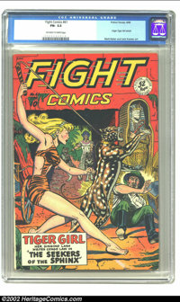 Fight Comics #61 (Fiction House, 1949) CGC FN- 5.5 Off-white to white pages. Origin Tiger Girl retold; Matt Baker and Ja...