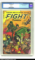 Golden Age (1938-1955):War, Fight Comics #84 Cosmic Aeroplane pedigree (Fiction House, 1954)CGC VF 8.0 Off-white pages. Overstreet 2002 VF 8.0 value = ...
