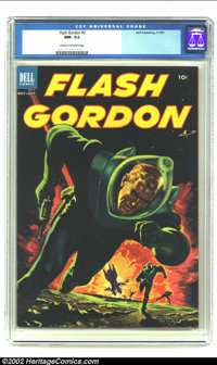 Flash Gordon #2 (Dell, 1953) CGC NM- 9.2 Cream to off-white pages. Cool painted cover. Overstreet 2002 NM 9.4 value = $7...