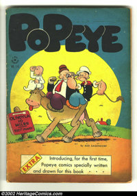 Four Color #113 Popeye (Dell, 1946) Condition: GD/VG. Original Popeye stories begin. Overstreet 2002 GD 2.0 value = $13;...