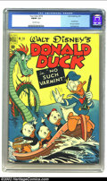 Golden Age (1938-1955):Cartoon Character, Four Color #318 (Dell, 1951) CGC Fn/VF 7.0 Off-white pages. Donald Duck in No Such Varmint. From the collection of Bobby Har...