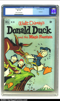 Four Color #339 (Dell, 1951) CGC VF- 7.5 Cream to off-white pages. Donald Duck and the Magic Fountain. From the collecti...
