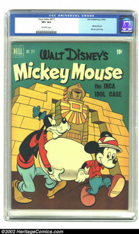 Four Color #371 (Dell, 1952) CGC VF+ 8.5 Off-white pages. Mickey Mouse. The Inca Idol Case. Overstreet 2002 VF 8.0 value...