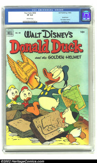 Four Color #408 (Dell, 1952).CGC VF 8.0 Off-white pages This is a beautiful copy of a Carl Barks duck classic. Overstree...