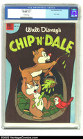 Golden Age (1938-1955):Cartoon Character, Four Color #517 (Dell, 1953) CGC VF/NM 9.0 Off-white pages. Chip 'n' Dale. Overstreet 2002 NM 9.4 value = $120. From the col...
