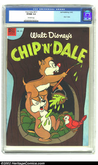 Four Color #517 (Dell, 1953) CGC VF/NM 9.0 Off-white pages. Chip 'n' Dale. Overstreet 2002 NM 9.4 value = $120. From the...