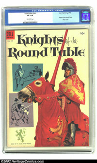 Four Color #540 (Dell, 1954).CGC VF 8.0 Off-white pages The Knights of the Round Table brought to comics. Overstreet 200...