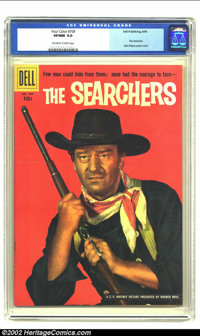 Four Color #709 (Dell, 1956) CGC VF/NM 9.0 Off-white to white pages. John Wayne photo cover. The Searchers movie adaptat...
