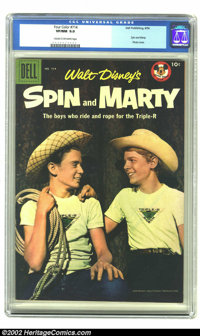Four Color #714 (Dell, 1956) CGC VF/NM 9.0 Cream to Off-white pages. Walt Disney's Spin and Marty are featured in this i...