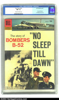 """Silver Age (1956-1969):Miscellaneous, Four Color #831 No Sleep Till Dawn (Dell, 1957).CGC NM- 9.2 Cream to off-white pages The Story of Bombers B-52. """"No Sleep Ti..."""