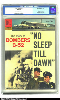 """Four Color #831 No Sleep Till Dawn (Dell, 1957).CGC NM- 9.2 Cream to off-white pages The Story of Bombers B-52. """"No..."""