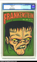 Golden Age (1938-1955):Horror, Frankenstein #23 (Prize, 1953) CGC FN 6.0 Cream to off-white pages.Dick Briefer cover and art. Classic cover. Overstreet 20...