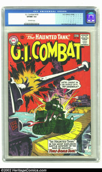 G.I. Combat #105 (DC) CGC VF/NM 9.0 Off-white pages. Incredible Kubert artwork on this wild Haunted Tank cover and highe...