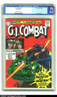 G.I. Combat #116 (DC, 1966) CGC VF+ 8.5 Off-white to White pages. Joe Kubert illustrates this cover of the Haunted Tank...