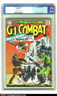 G.I. Combat #117 (DC, 1966) CGC NM 9.4 Cream to Off-white pages. The Haunted Tank is frozen in a block of ice in the mid...