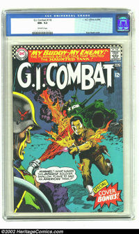 G.I. Combat #118 (DC, 1966) CGC NM- 9.2 Off-white pages. A Japanese soldier comes to the aid of the Haunted Tank in this...