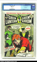Bronze Age (1970-1979):Superhero, Green Lantern #85 (DC, 1971) CGC NM- 9.2 Off-white pages. Anti-drug story by Neal Adams. Overstreet 2002 NM 9.4 value = $75....