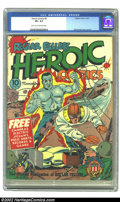 Golden Age (1938-1955):War, Heroic Comics #9 (Eastern Color, 1941) CGC VF+ 8.5 Light tan tooff-white pages. Man O'Metal and Hydroman fight a couple of ...