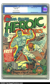 Heroic Comics #9 (Eastern Color, 1941) CGC VF+ 8.5 Light tan to off-white pages. Man O'Metal and Hydroman fight a couple...