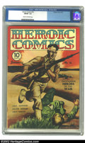 Golden Age (1938-1955):War, Heroic Comics #16 (Eastern Color, 1943) CGC FN/VF 7.0 Cream tooff-white pages. This has a nifty painted World War II Pacifi...