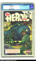 Golden Age (1938-1955):Non-Fiction, Heroic Comics #76 (Eastern Color, 1952) CGC NM 9.4 Cream tooff-white pages. Howard Kiefer renders a somber Korean war cover...