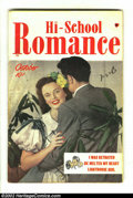 Golden Age (1938-1955):Romance, Hi-School Romance #1 Double Cover (Harvey, 1949) Condition: VF.Inside cover VF, outside cover VG/FN. Overstreet 2002 VF 8.0...