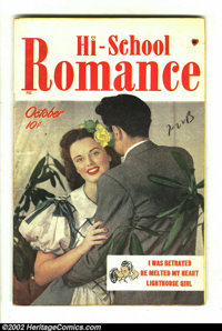 Hi-School Romance #1 Double Cover (Harvey, 1949) Condition: VF. Inside cover VF, outside cover VG/FN. Overstreet 2002 VF...