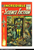 Golden Age (1938-1955):Science Fiction, Incredible Science Fiction #32 (EC, 1955) Condition: VG. Jack Daviscreated one of his most memorable covers for this code-a...