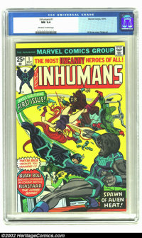 The Inhumans #1 (Marvel, 1975) CGC NM 9.4 Off-white to white pages. Gil Kane cover. Overstreet 2002 NM 9.4 value = $16...
