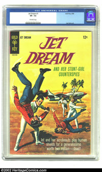 Jet Dream #1 (Gold Key, 1968) CGC VF- 7.5 Off-white pages. Jet Dream and her Stun-Girl Counterspies! Joe Certa art. Over...