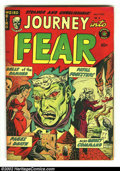 """Golden Age (1938-1955):Horror, Journey Into Fear #8 (Superior, 1952) VG/FN 5.0 Cream Pages.Graphic Superior violence and horror in, """"Bells of the Damned"""",..."""