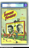 Golden Age (1938-1955):Humor, Keen Teens nn #1 (Leader Enterprises, 1945) CGC FN 6.0 Off-white pages. Frank Sinatra photo cover, 14 pages of Claire Voyant...