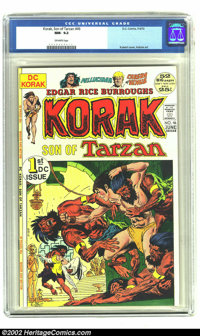 Korak, Son of Tarzan #46 (DC, 1972) CGC NM- 9.2 Off-white pages. Joe Kubert provides a beautiful cover to this first iss...