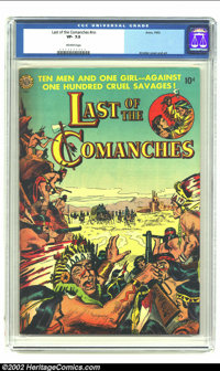 Last of the Comanches #nn (Avon, 1953) CGC VF- 7.5 Off-white pages. Kinstler cover and art. Overstreet 2002 VF 8.0 value...