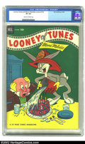 Golden Age (1938-1955):Funny Animal, Looney Tunes and Merrie Melodies Comics #132 (Dell, 1952) CGC VF8.0 Cream to off-white pages. Bugs spoils Elmer's birthday ...