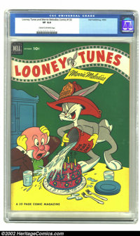 Looney Tunes and Merrie Melodies Comics #132 (Dell, 1952) CGC VF 8.0 Cream to off-white pages. Bugs spoils Elmer's birth...