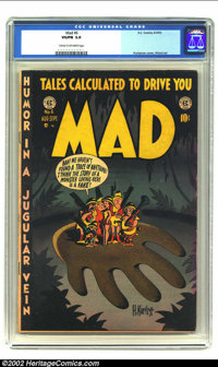 Mad #6 (EC, 1953) CGC VG/FN 5.0 Cream to off-white pages. Overstreet 2002 FN 6.0 value = $180
