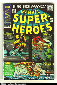 Marvel Super-Heroes #1 (Marvel, 1966) Condition: VG/FN. Cool squarebound book with Daredevil and the Hulk. Overstreet 20...