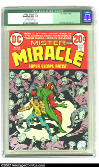 Mister Miracle #15 (DC, 1973) Qualified CGC NM+ 9.6 Off-white to White pages. Jack Kirby writes and illustrates the firs...